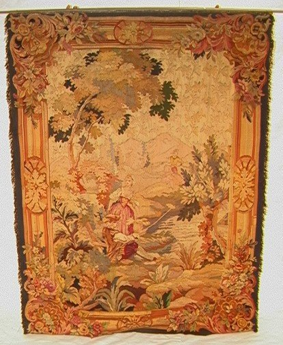 993: Antique French Tapestry Labeled Made in France   D