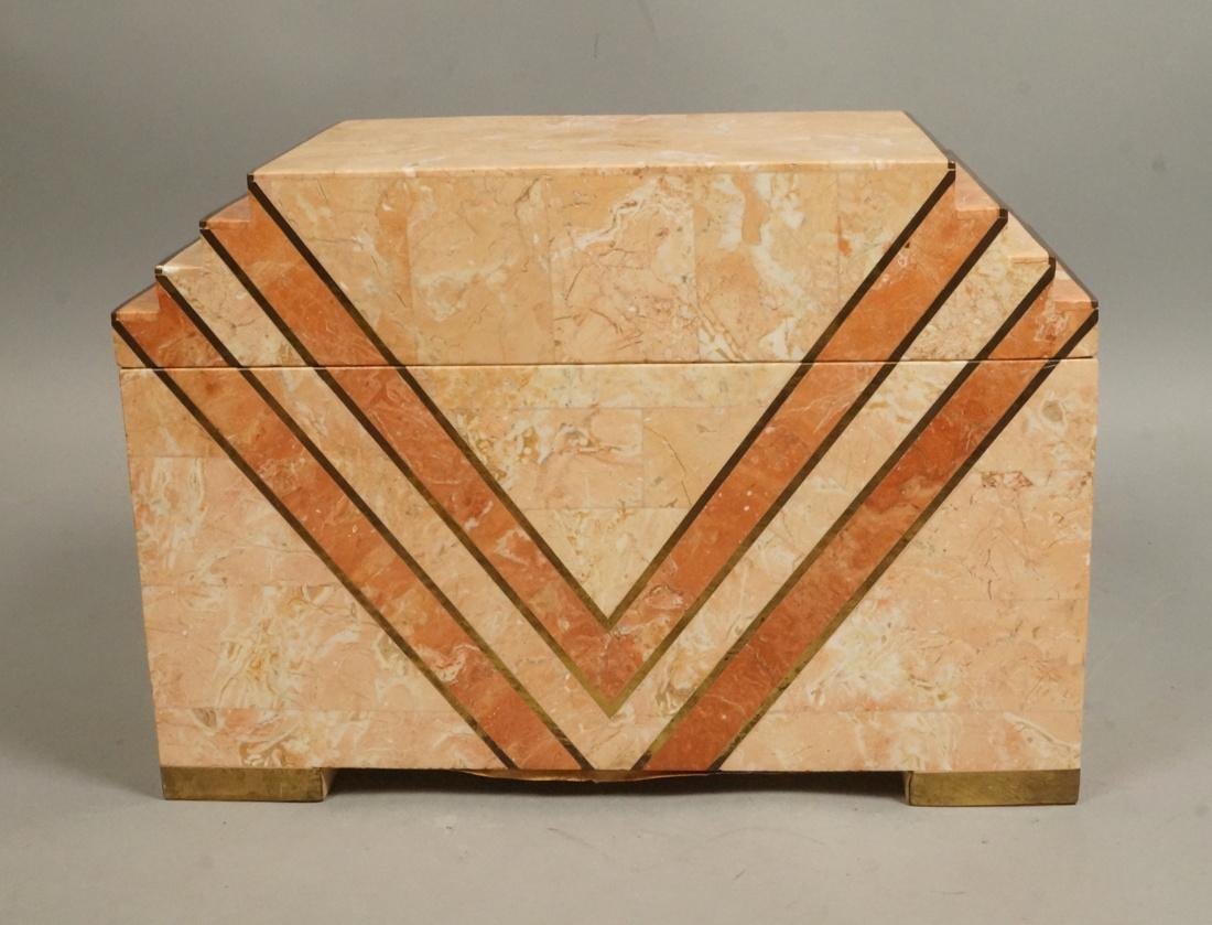 MAITLAND SMITH Style Stone Marble Tesserae Box. S