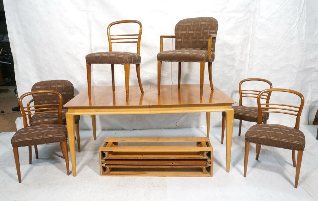 7pc RENZO RUTILI Dining Set. Table with Asian sty