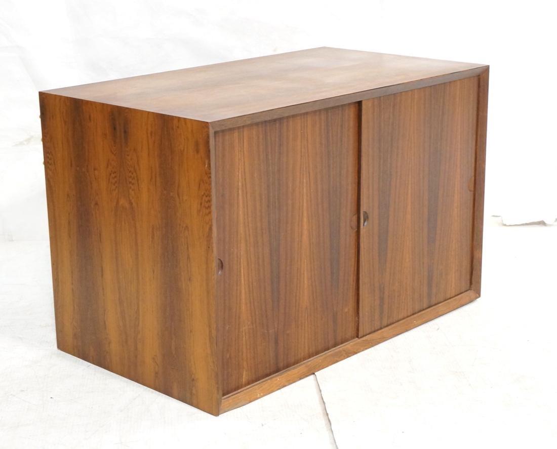 CADO Unit Modern Rosewood 2 Door Cabinet. Beveled