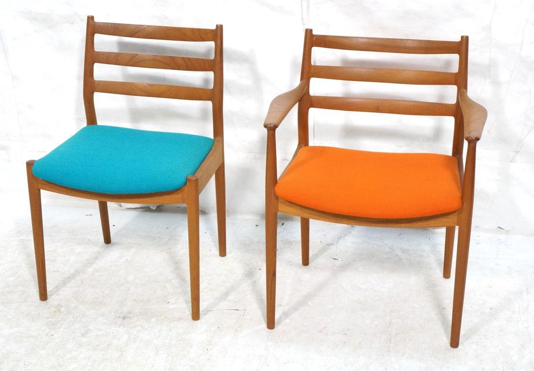 Pair of CADO Danish Dining Chairs. One armchair.