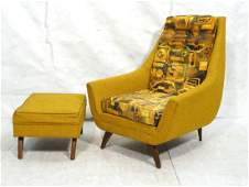 Tall Back ADRIAN PEARSALL style Lounge Chair Otto