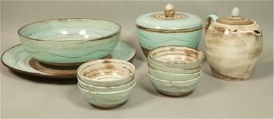 11pc SANTA ANITA Ceramic Tableware Dishes Brown