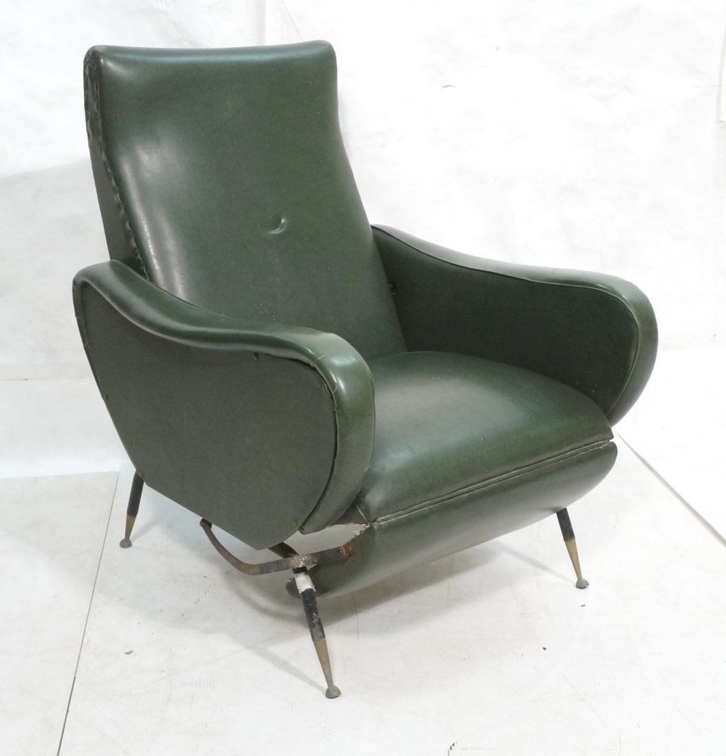 Italian Green Vinyl Recliner Chair. Cloud form si