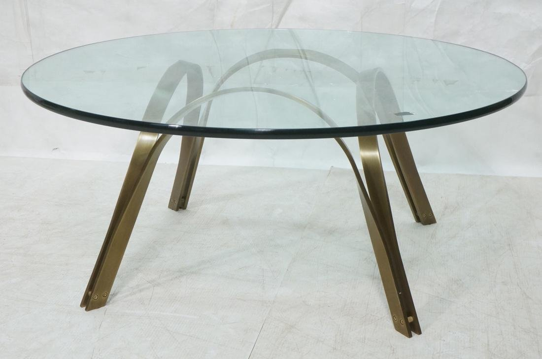 ROGER SPRUNGER for DUNBAR Cocktail Table. Round G