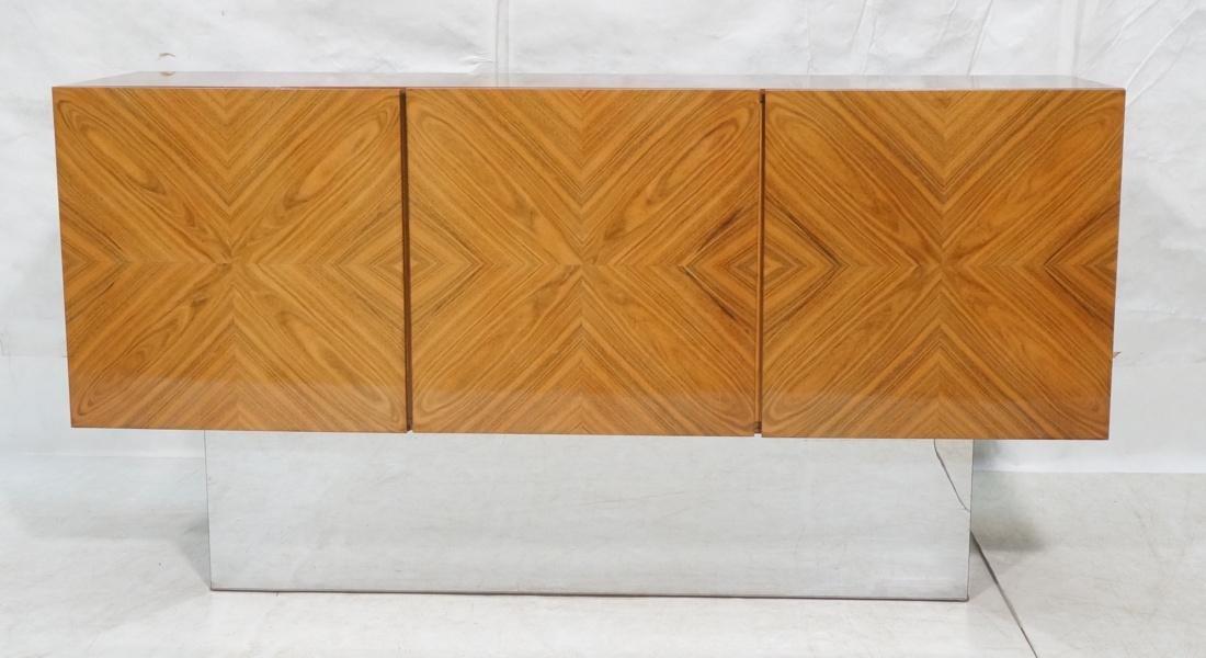 Three Door Modernist Milo Baughman style Credenza