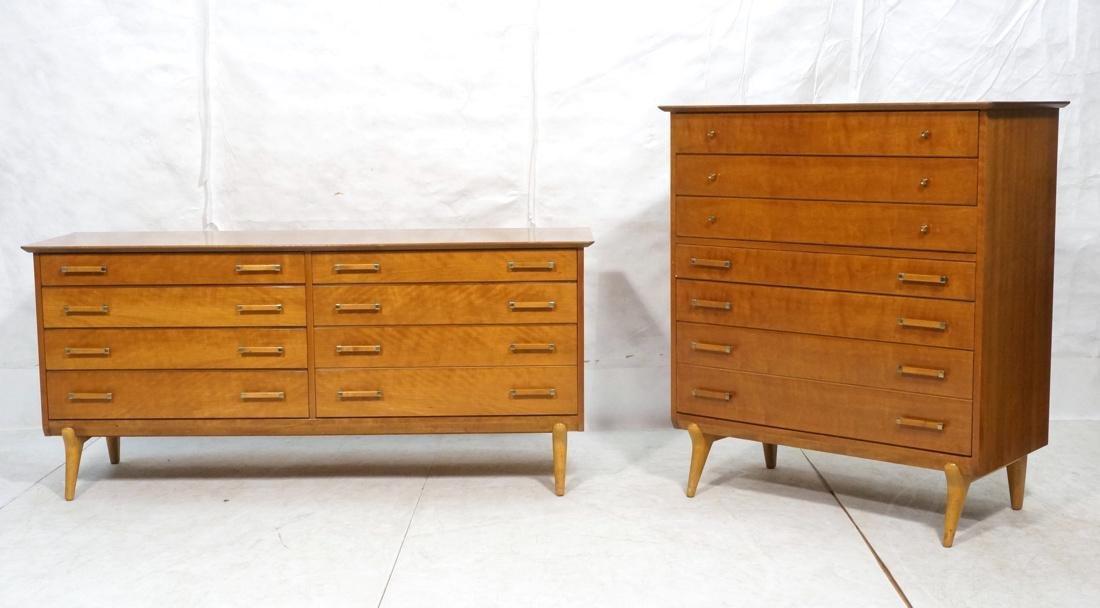 2pc Renzo RENZO RUTILI Dressers  Chests. 7 Drawer
