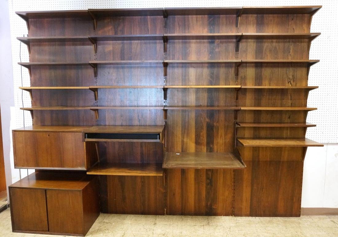 Paul Cadovius Rosewood Wall Unit.  Cado cabinet.