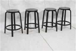 Set 4 Ebonized ARTEK Bar Stools ALVAR AALTO Lam