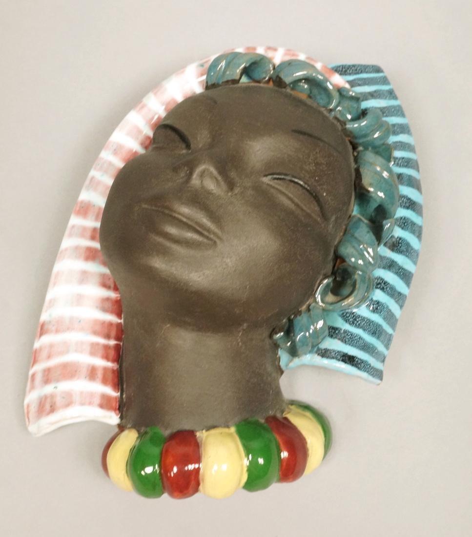 Austrian WERKSTATTE Terracotta Ceramic Wall Mask.