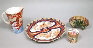 4pc Japanese Imari Style Ceramics 1 Scalloped p