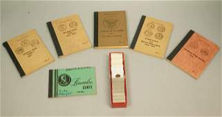Lot Incomplete Coin Books and Lincoln Cents. Jef