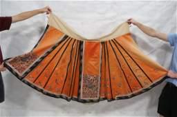 Embroidered Silk Chinese Skirt Multi paneled pal