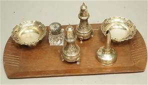6pc Silver & Sterling Tableware Lot. Pr sterling