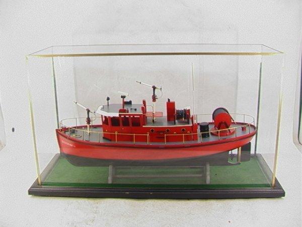 2001: Wood Ship Model CITY OF BATH Fire and Hose Ship.