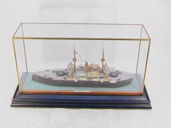 2002: Wood Ship Model 1892 HMS ROYAL SOVEREIGN. Twin Ma