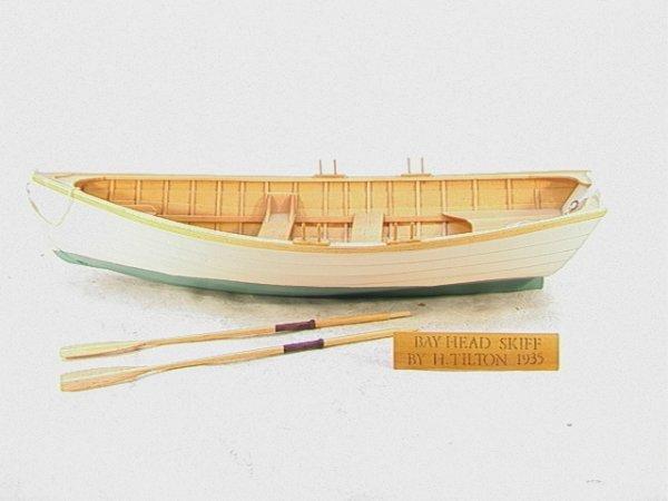 2003: BAY HEAD SKIFF Wood Hull Boat Model H TILTON 1935