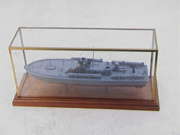 2005: Detailed Wood Model Navy Boat  Torpedoes. PT109.