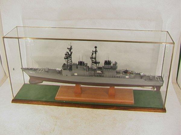 2008: US NAVY SHIP 963. Wood Battle Ship Model. Extreme