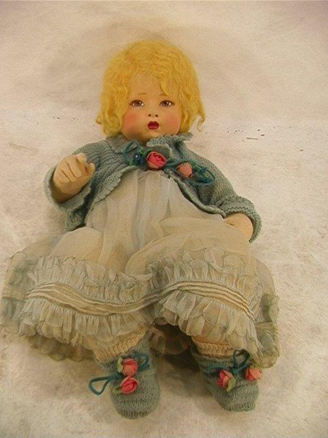 2019: Vintage Italian LENCI Felt 21 in. Baby Doll ITALY