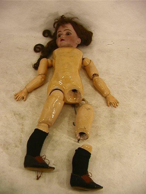 2021: Large Bisque Head Doll Antique German.  Bisque He