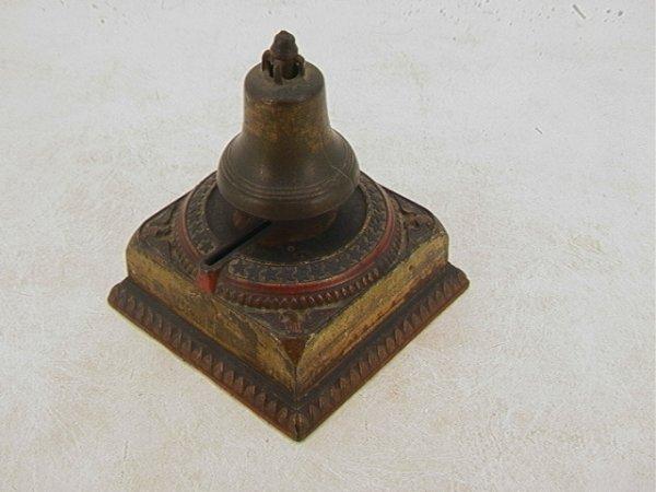 2036: Cast Iron Liberty Bell Bank CENTENNIAL 1876.  Cas