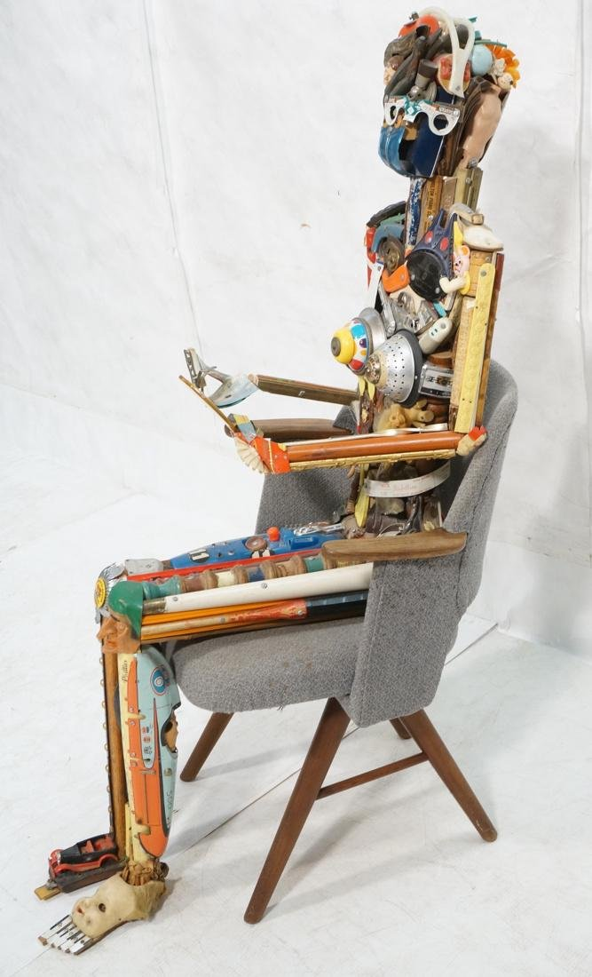 LEO SEWELL Figural Female Sculpture Found Objects