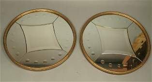 Pr PIERO FORNASETTI Style Dimpled Wall Mirrors. B