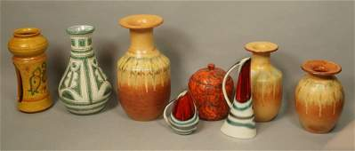 8pc Mid Century Pottery Lot Mostly Italian 2 pi