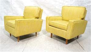 Pr Florence Knoll Lounge Chairs Yellow, Gr