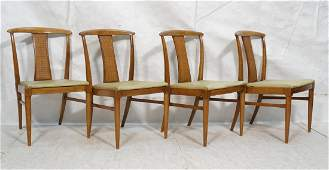 Set 4 Modern Dining Chairs. T Back form with Wove