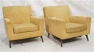 Pr Gold Fabric Modernist Lounge Chairs Paul McCo