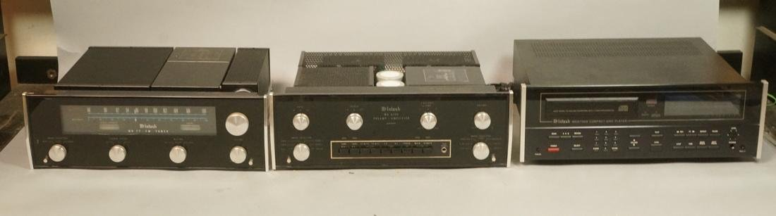 3pc MCINTOSH Stereo Components. 1) Model MR 77 St