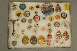 39 Collectible Vintage Pin Backs G Man medals L
