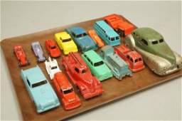 16 Vintage Toy Cars, Models, Fire Trucks. TOOTSIE