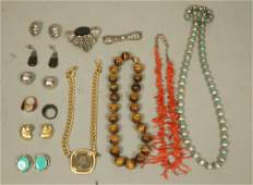 13pc Mixed Costume Jewelry Lot including Sterling