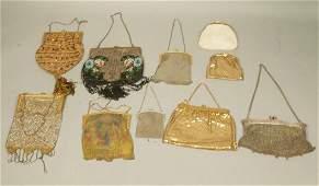 Lot 10 Antique Vintage Purse Handbags. 2 WHITING