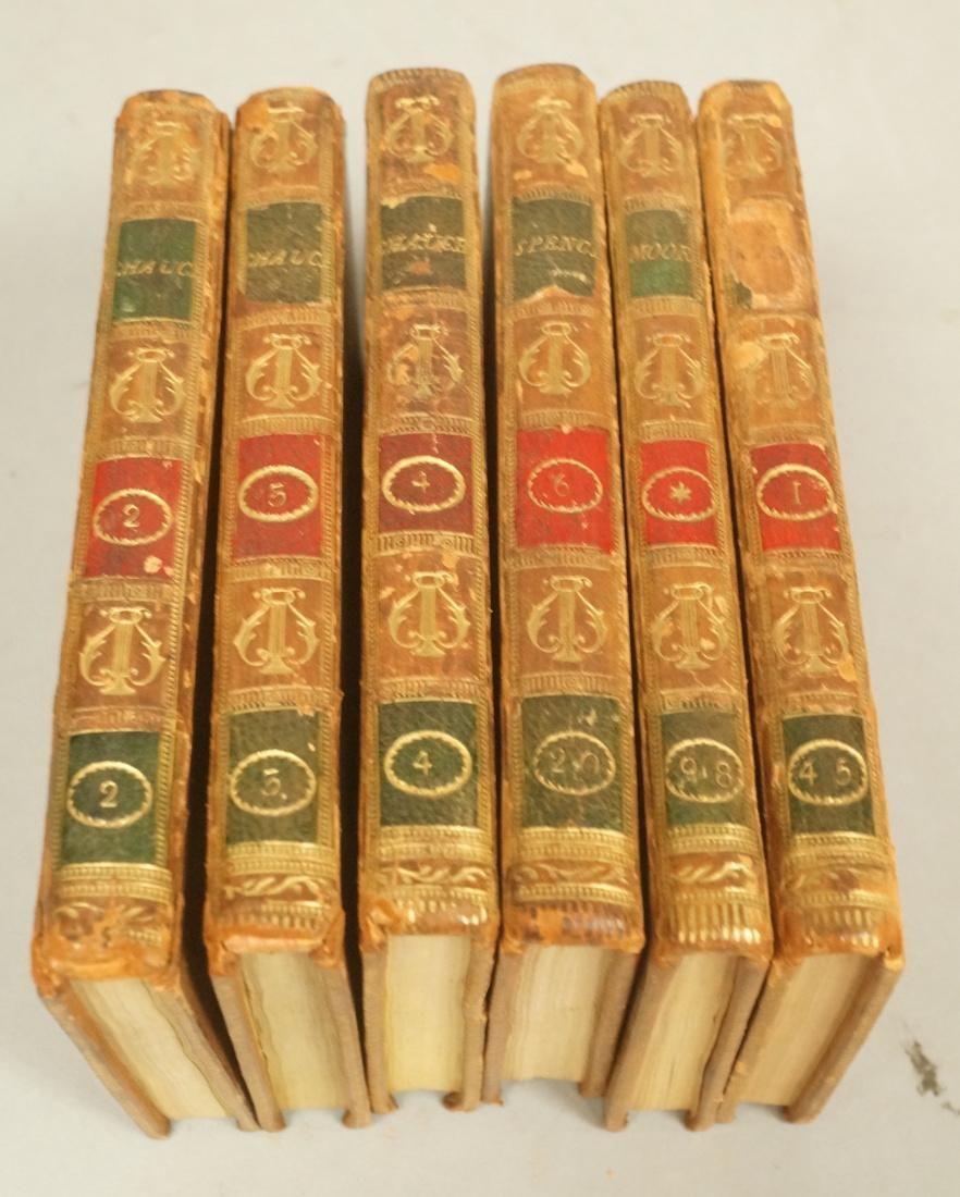 Set 6 Leather bound Miniature Books Chaucer. Volu