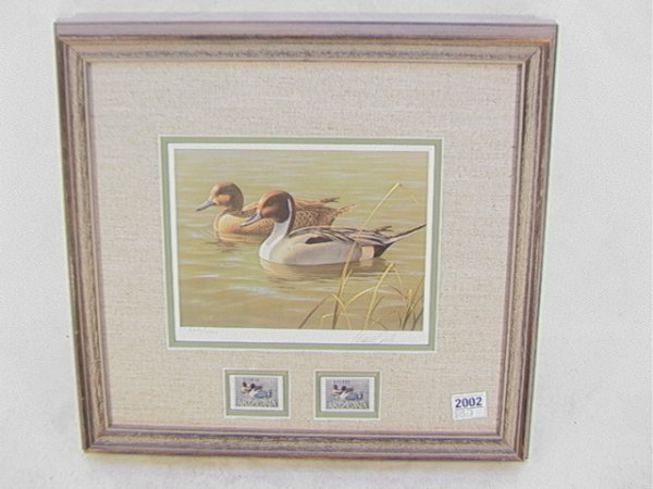 2002: Daniel Smith 1987 Duck stamp Arizona First of Sta