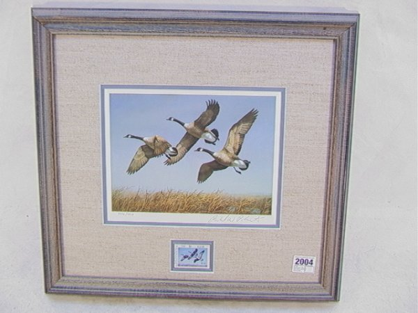 2004: Richard Plasschaert 1982 Duck stamp North Dakota