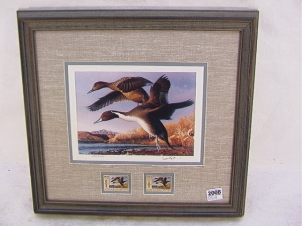 2008: Robert Steiner 1991 Duck stamp First of State New