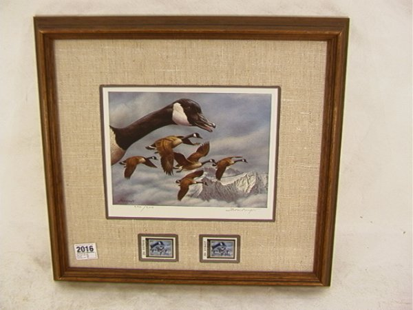 2016: Joe Thornbrugh 1986 Duck stamp Montana Waterfowl