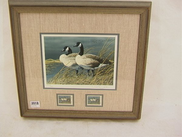 2018: Neal R. Anderson 1991 Duck stamp First of State N