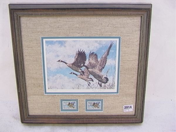 2023: George McLean 1987 Duck stamp Canada Wildlife Hab