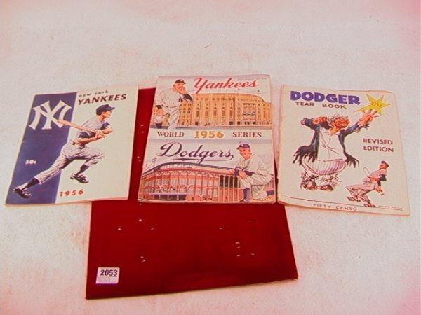 2053: 1956 World Series Program NY Yankees Dodgers Prog