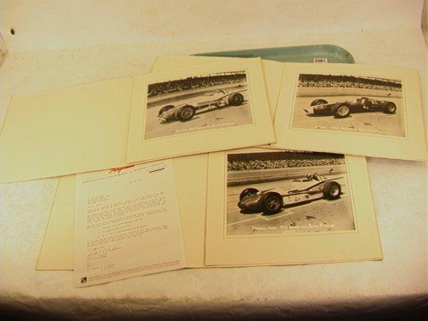 2061: 1963 Indianapolis 500 Photographs. A.J. Foyt, Jim