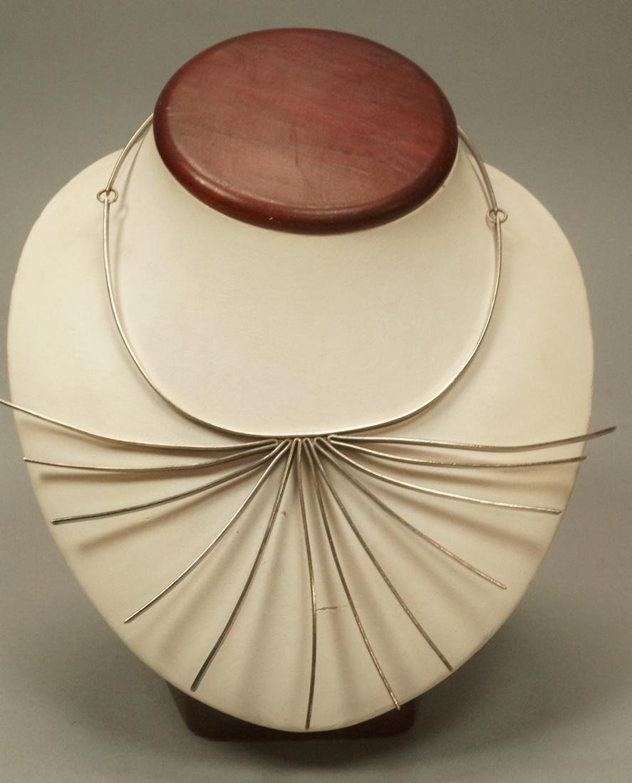 BETTY COOKE Sterling Silver Modernist Necklace. C