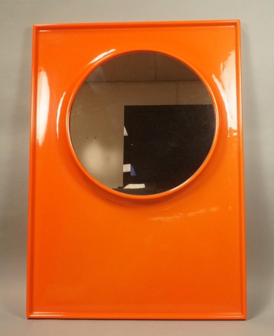 Style orange molded plastic wall mirror m panton style orange molded plastic wall mirror m amipublicfo Gallery