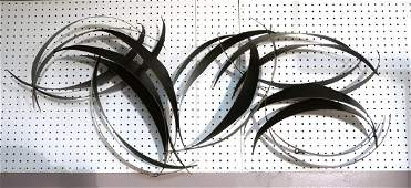 Lg C JERE Brutalist Metal Abstract Wall Sculpture