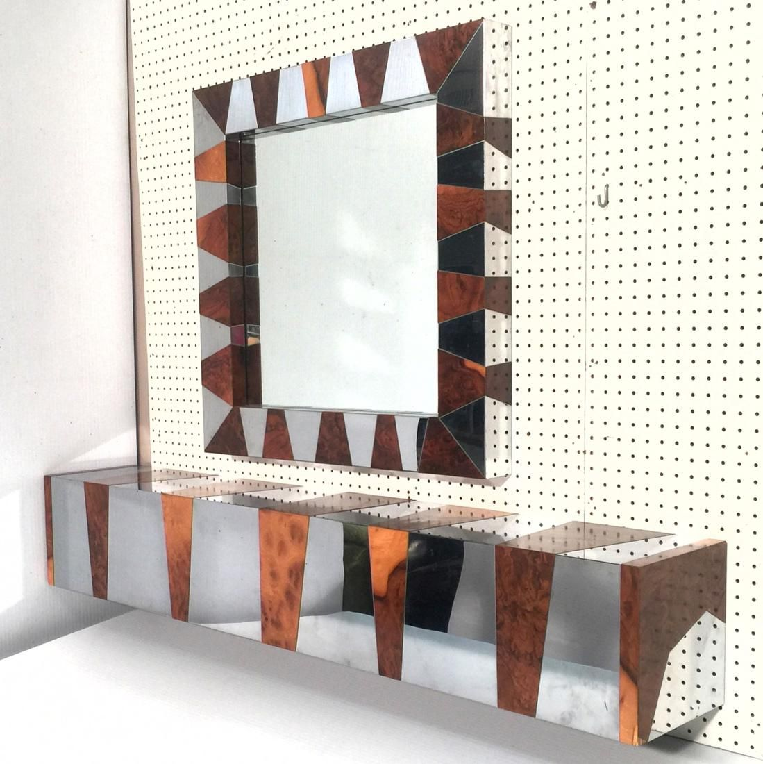 School of PAUL EVANS CITYSCAPE Wall Console and Mirror